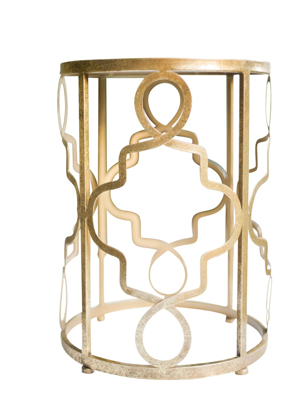 Gold Mirrored End Table (4)