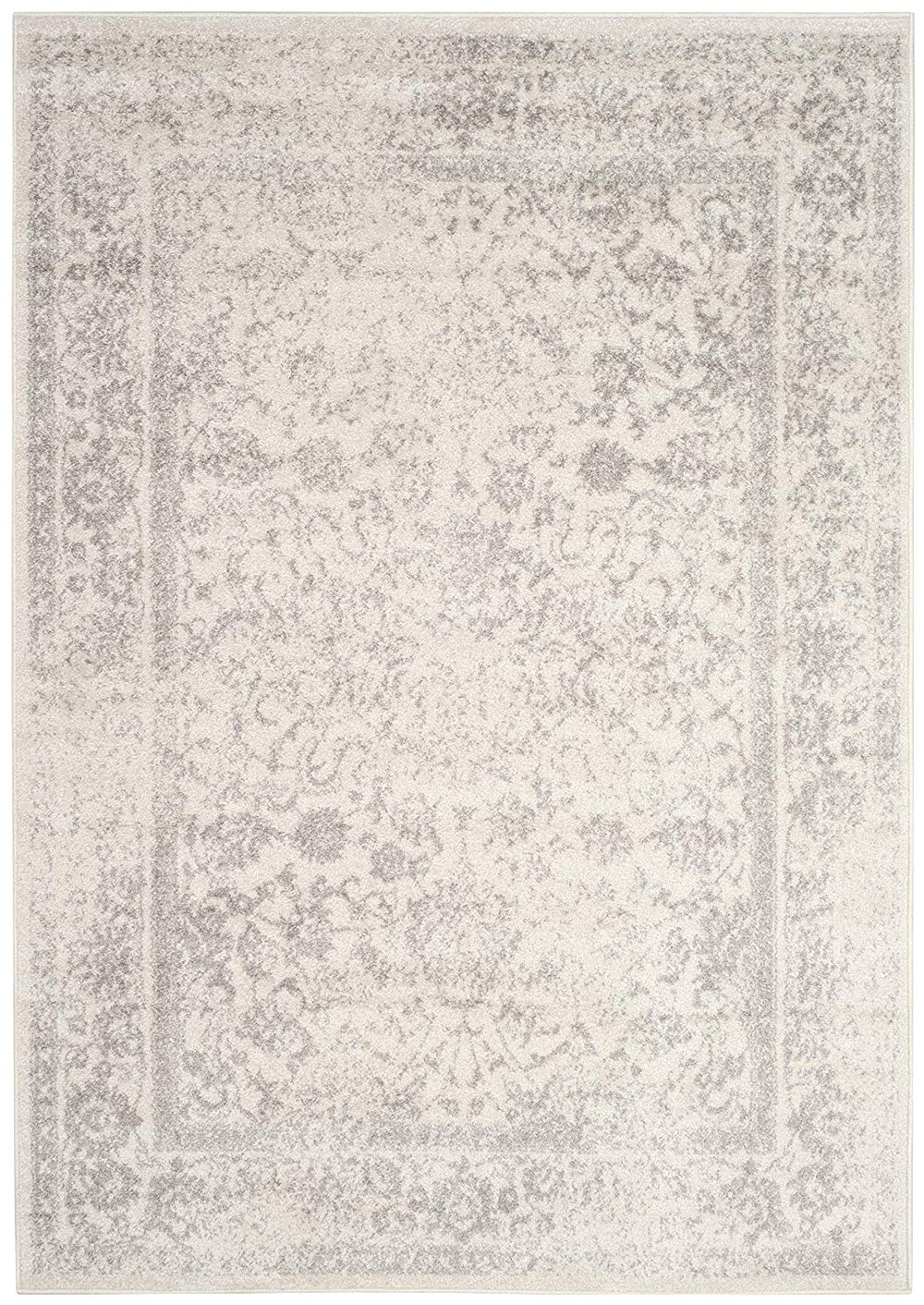 Distressed Silver Rug, Rectangular (2)   3x5; 4x6