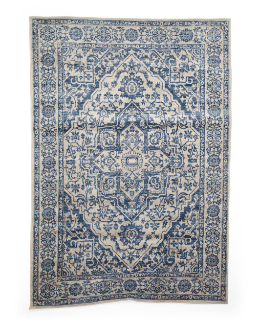 Ginger Blue Rug- Rectangular   5x7
