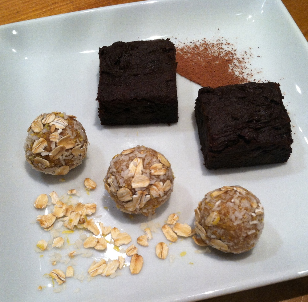 Dessert is served: Crazy Brownies and Lemon-Kissed Blondie Bites! So easy and quick to make that there's no need to choose between them.