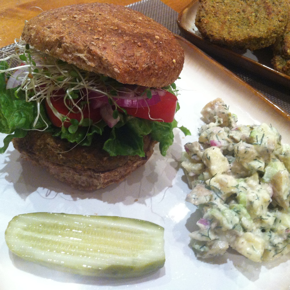 The Artichoke Sunflower Burgers baked up beautifully!