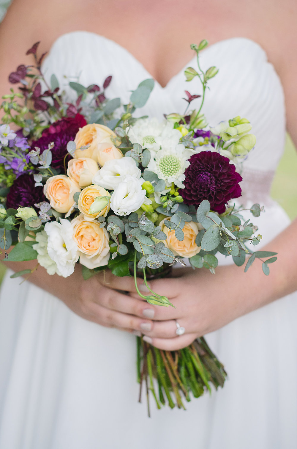 Beautiful Bridal Bouquet by Rhosyn Floral captured by Let There Be Light Photography