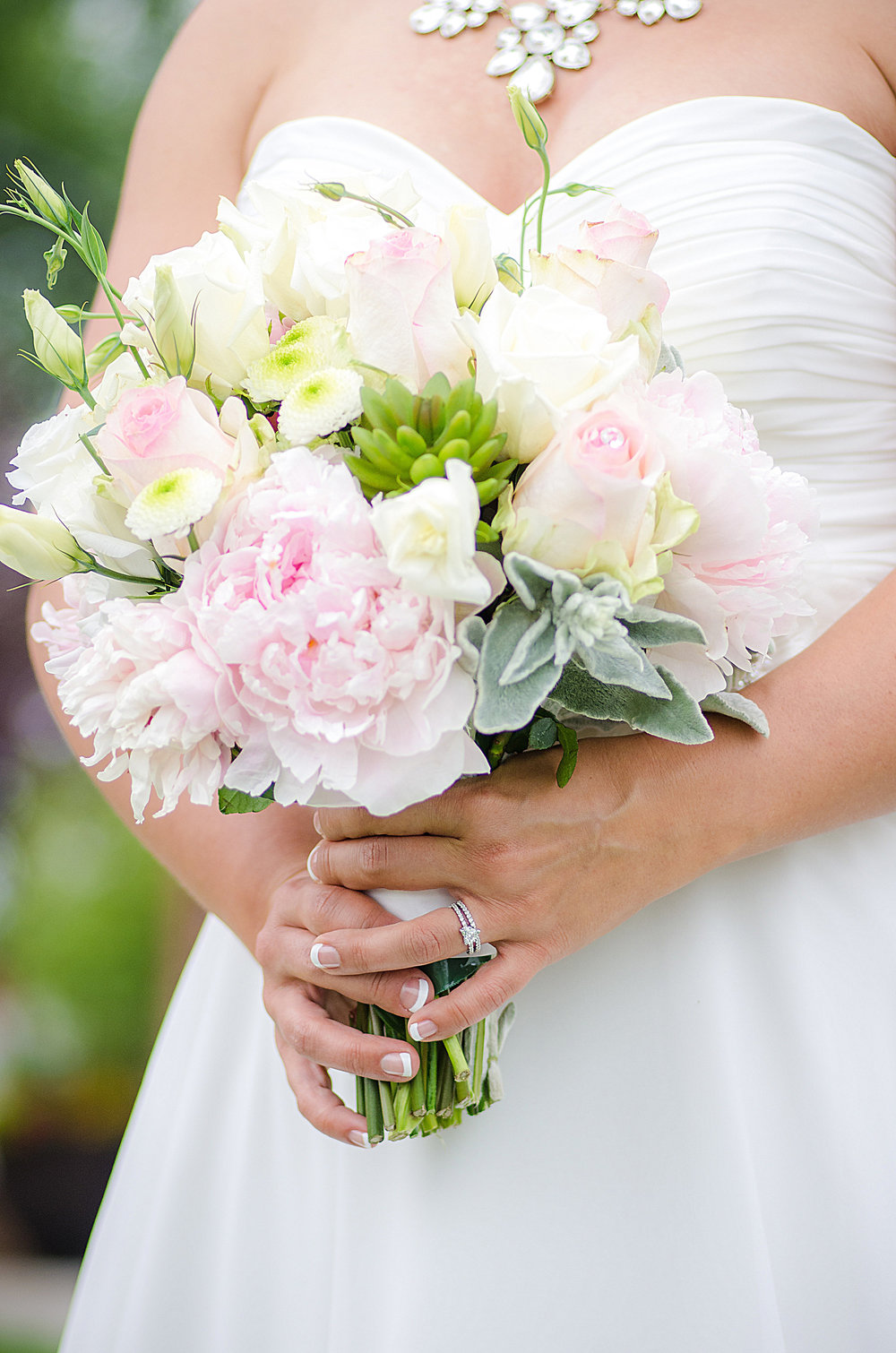 Pink Peony Bridal Bouquet captured by Let There Be Light Photography Olds Alberta