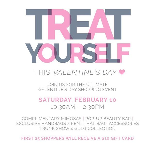 THIS SATURDAY | Join us at @graycelnfashion for the ultimate Galentine's Day shopping event! 🛍Mimosas 🥂, a pop-up beauty bar 💄, live sounds 🎶 + a stylish trunk show and shop featuring GDLG Collection + Rent That Bag ! Did we mention - the first 25 shoppers will receive a $10 gift card and other great giveaways while supplies last? Stop in before you brunch! The Collection at Broadway | 7959 Broadway, Ste 200, SATX 78209