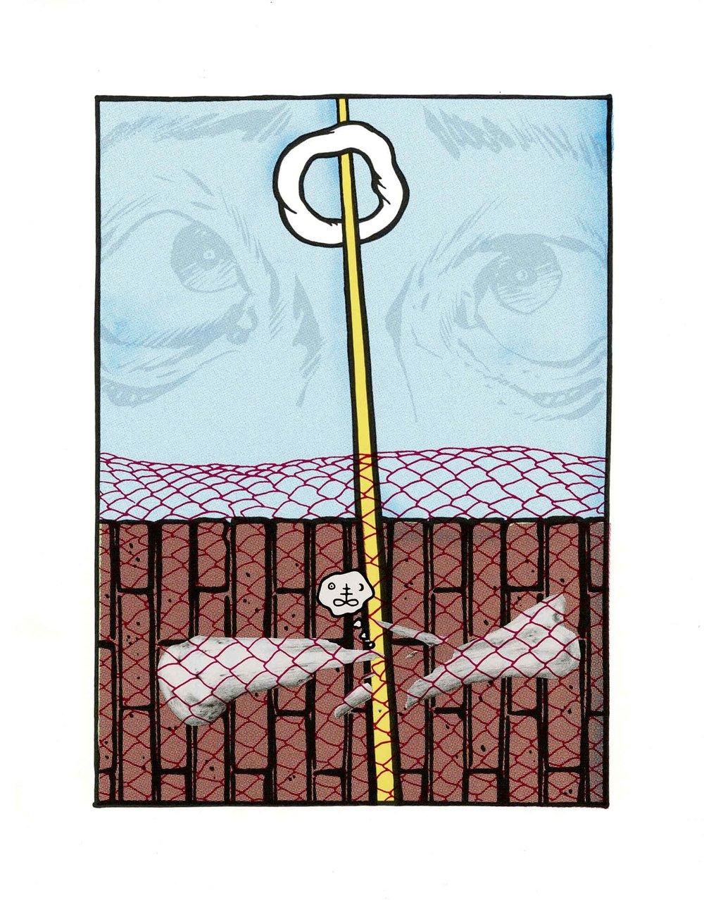 Hanged Man at the Veil of Paroketh