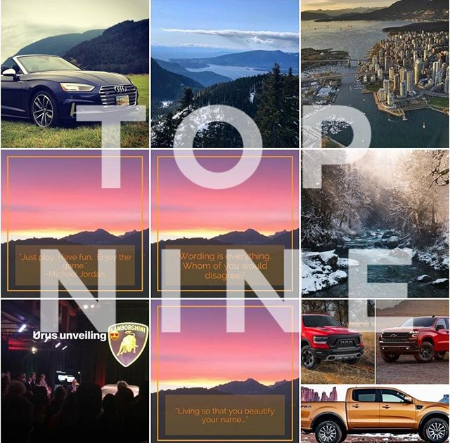 Our Top Nine of 2018 😎 Lets go 2019!! . . . . #Plan #Post #Communicate #Thrive #FYI #FYIGUYS #FYITW #Canada #BritishColumbia #BC #Vancouver #BestCoast #WestCoast #Automobile #Marketing #SocialMedia #Cars #Trucks #Reputation #Manage #TopNine #LetsGo #2019 #Bye2018 #NewYear #Automotive #Vibes #Instagood #TopNine #StayTuned