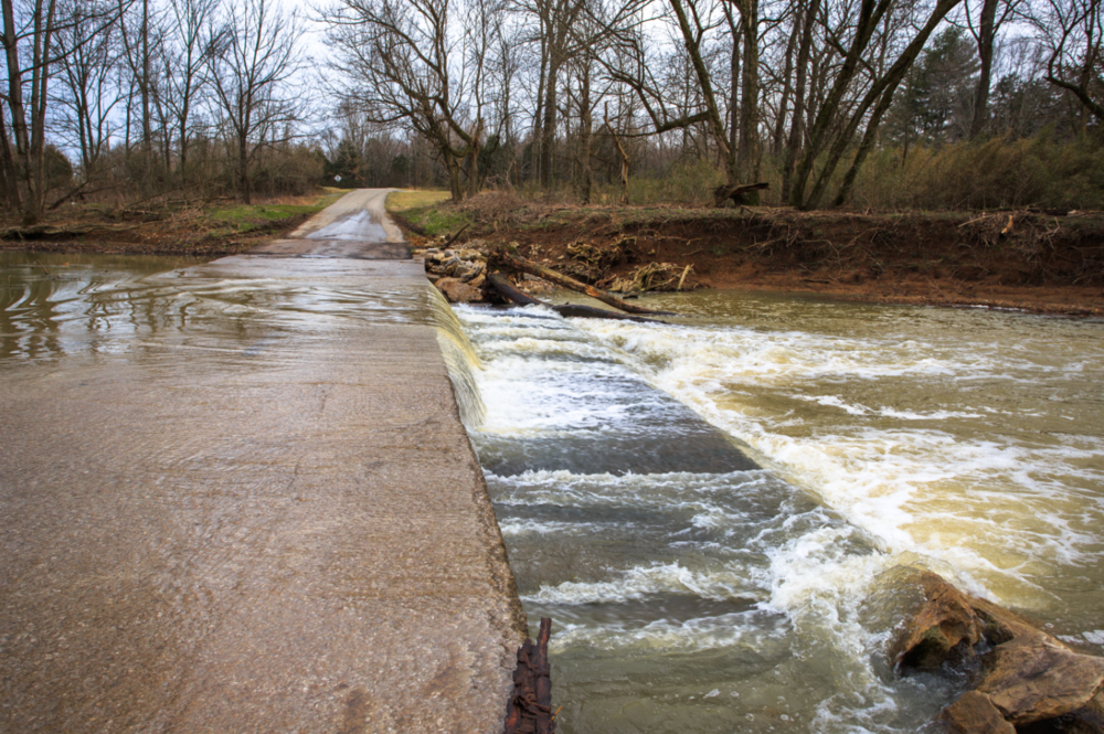 Flooding at Ritter's Mill in Barren County Kentucky made the road near my house impassible.