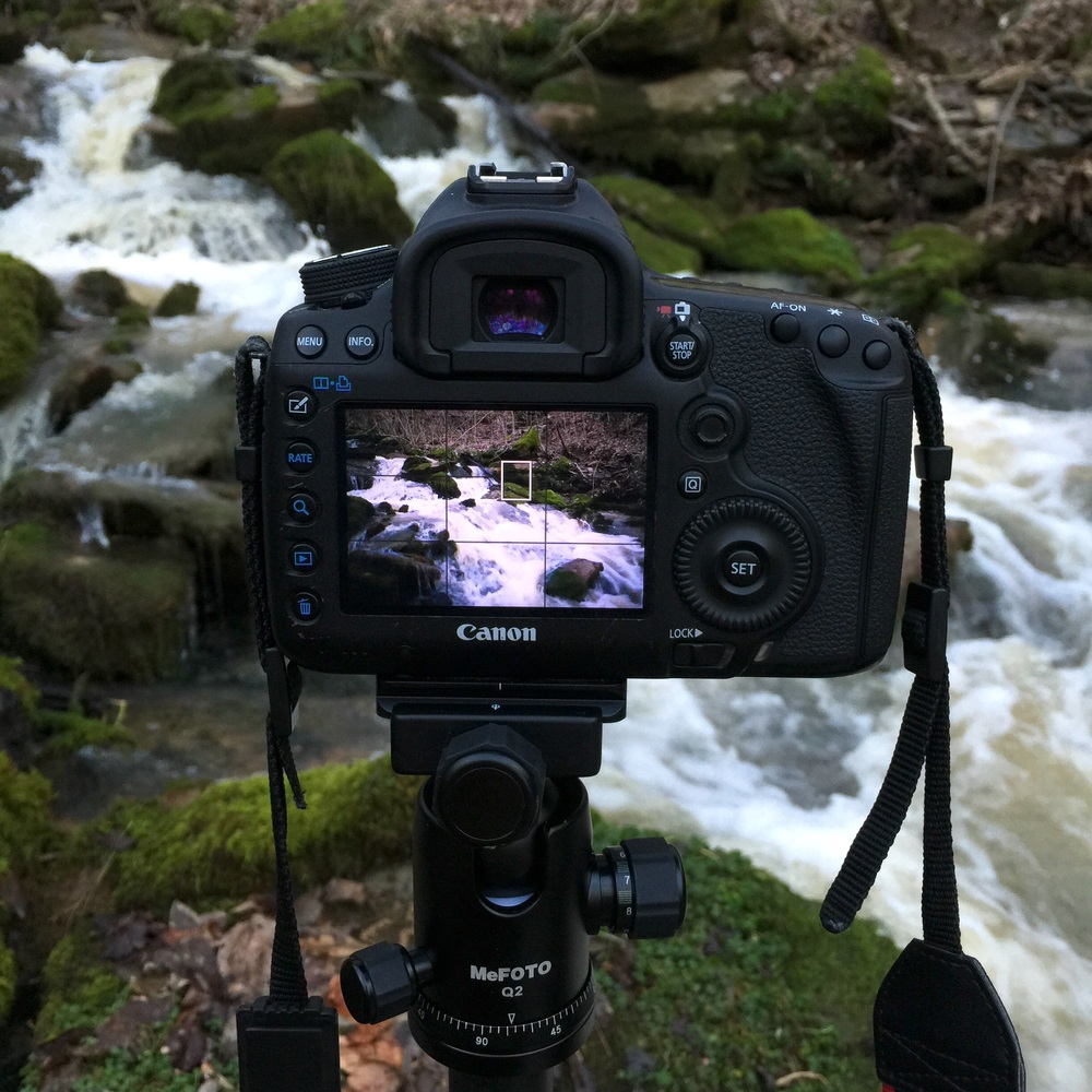 Photographing the beautiful waterfall... DSLR photos coming soon (in a new post)!!