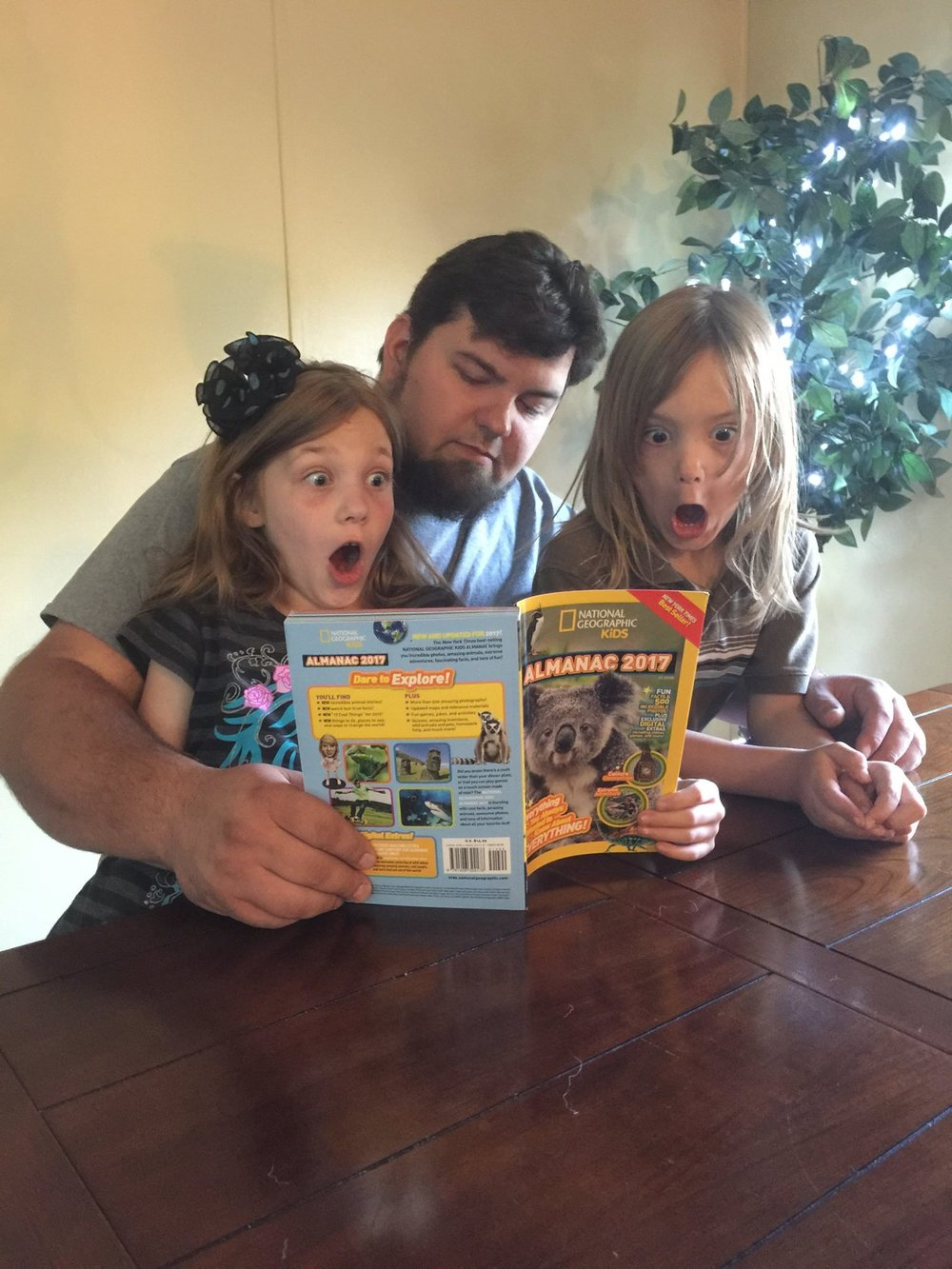 They were so shocked...their faces...priceless! Totally worth buying the almanac every year!