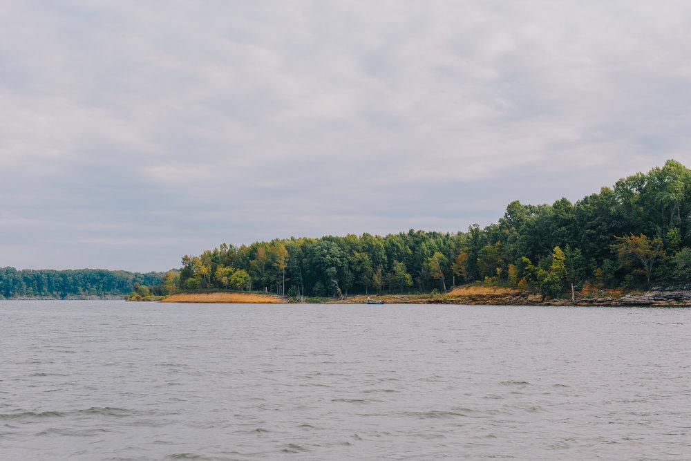 Fishermen on Barren River lake in Southern Kentucky.