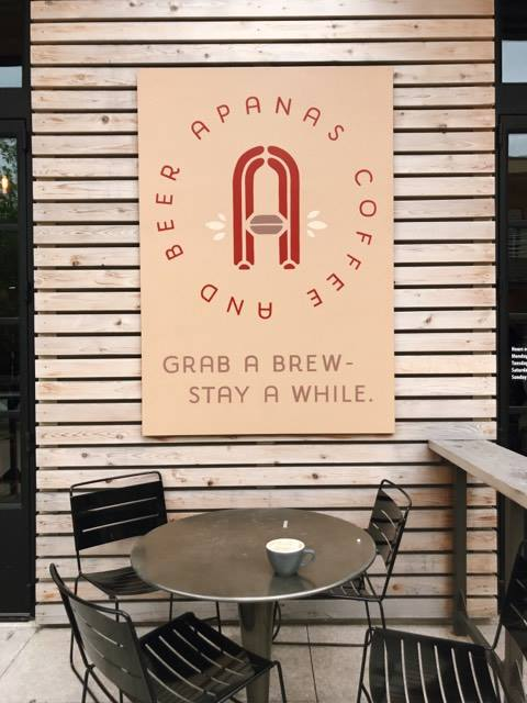 Apanas Cafe at Domain | 11501 Rock Rose #118, Austin, TX | Check site for different opening hours    This spot is great because they always have a great selection of music, patio seating, great service, an amazing Black Peach Tea, and delicious food options like Fricanos Deli.
