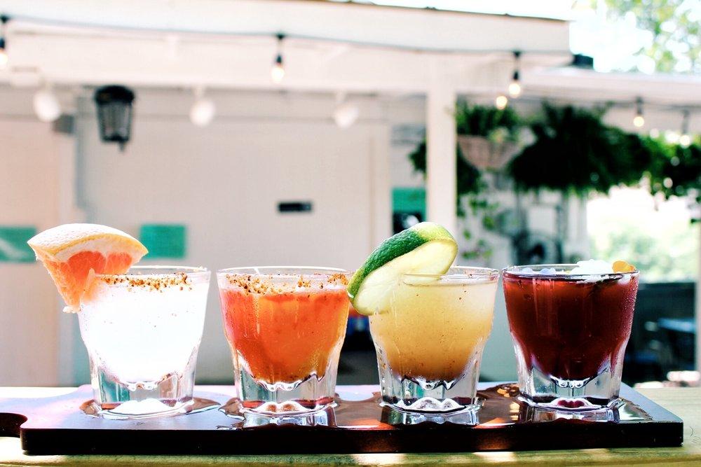 CAPRICHOSA / Margarita Flight   Gabby's, Mangonada, Besos, & Paloma