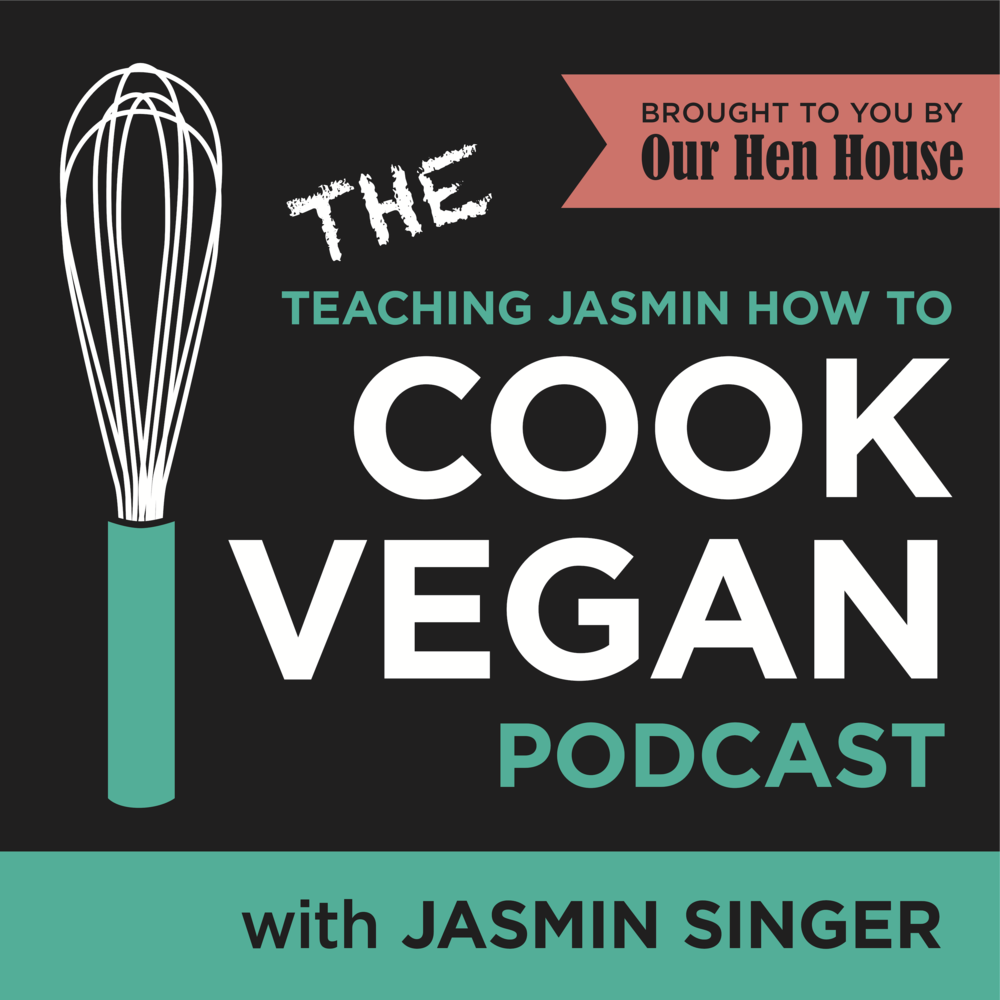 Teaching Jasmin how to cook vegan -