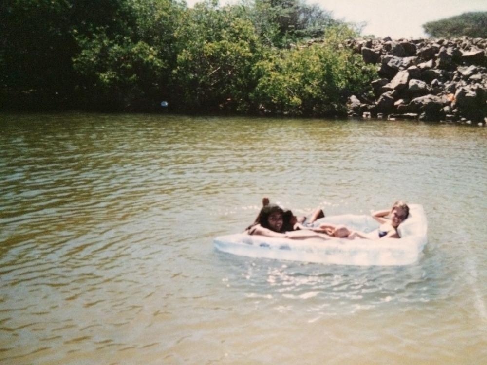My friends and our infamous raft. That's me on the right.