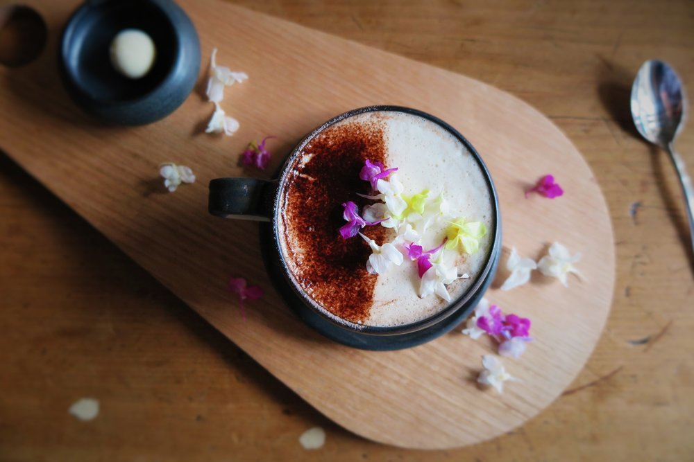 Looks like spring has erupted on top of this chai latte!