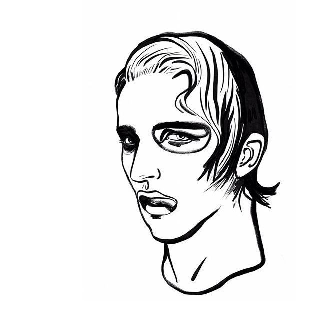 Another ink drawing from my sketchbook (shock, another face🤦♂️) . . . . . #illustration #illustrator #illustrationartists #illustratorsoninstagram #portrait #portraiture #mujibrushpen #brushpen #brush #ink #face #draw #drawing #sketch #sketchbook