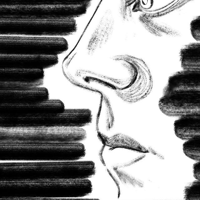 . 🎩 👀 👃 👄 . . Love a brush pen on its last legs...texture 🤤 . . . . #illustration #illustrator #illustratorsoninstagram #drawing #draw #sketchbook #sketch #ink #brushpen #quick #practice #portraiture #markmaking #portraitstudy