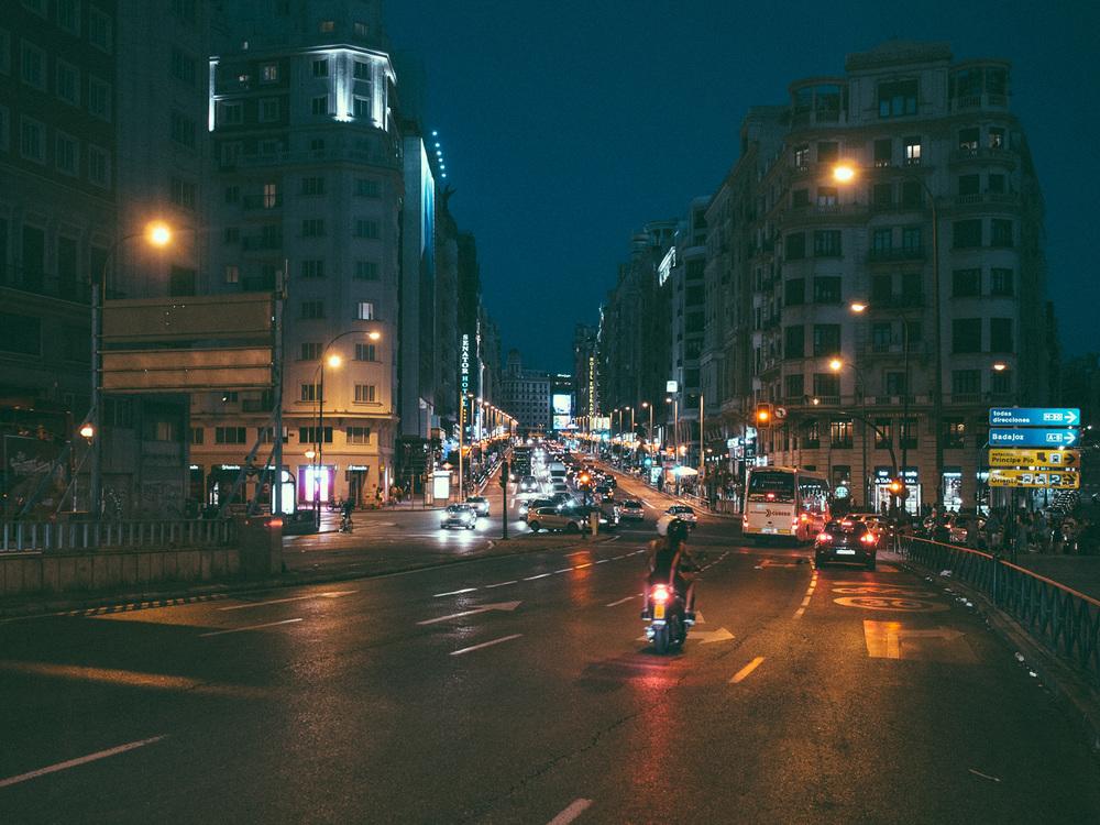 Calle Gran Via near Plaza de España
