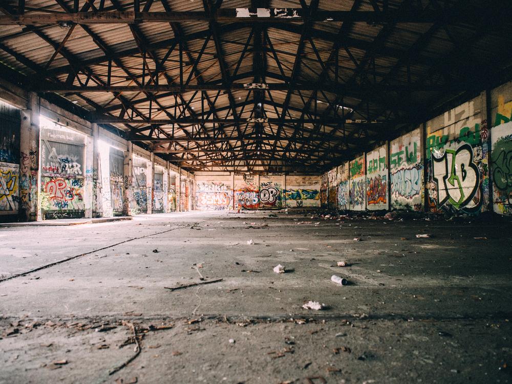 Abandoned warehouse near the Königin-Elisabeth-Hospital