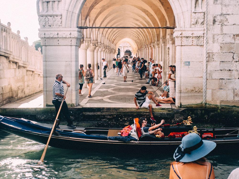 Gondolas starting near Doge's Palace