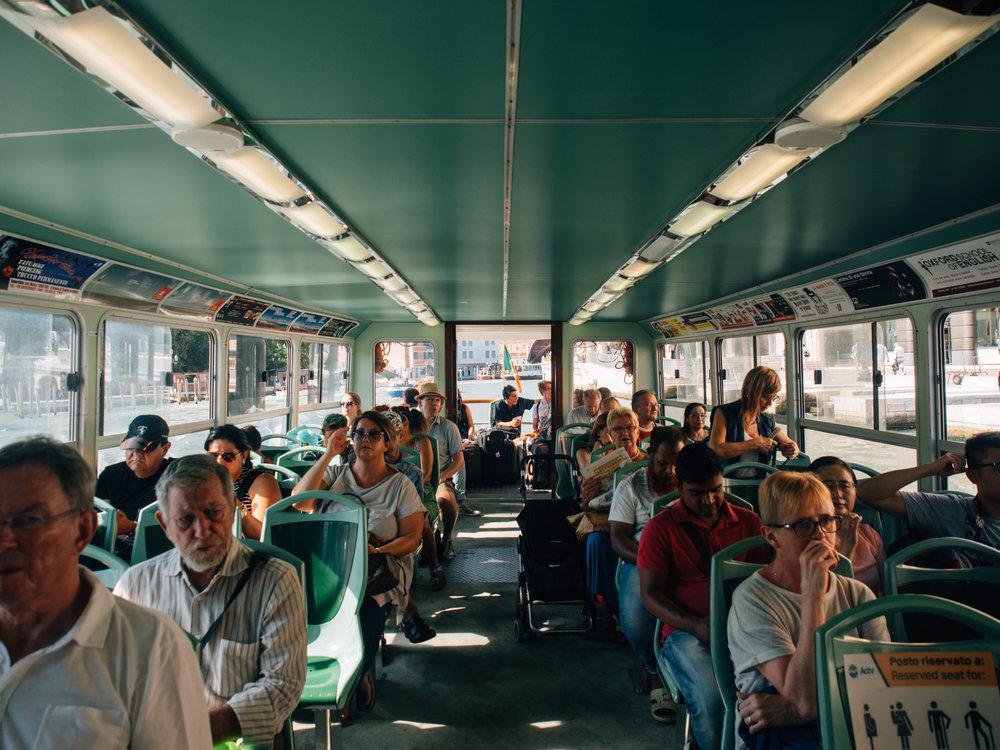 Inside a Water Bus