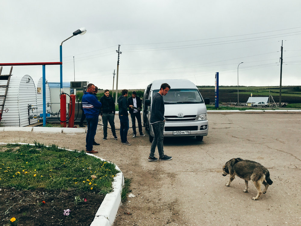 Pit stop, somewhere between Kazan and Samara