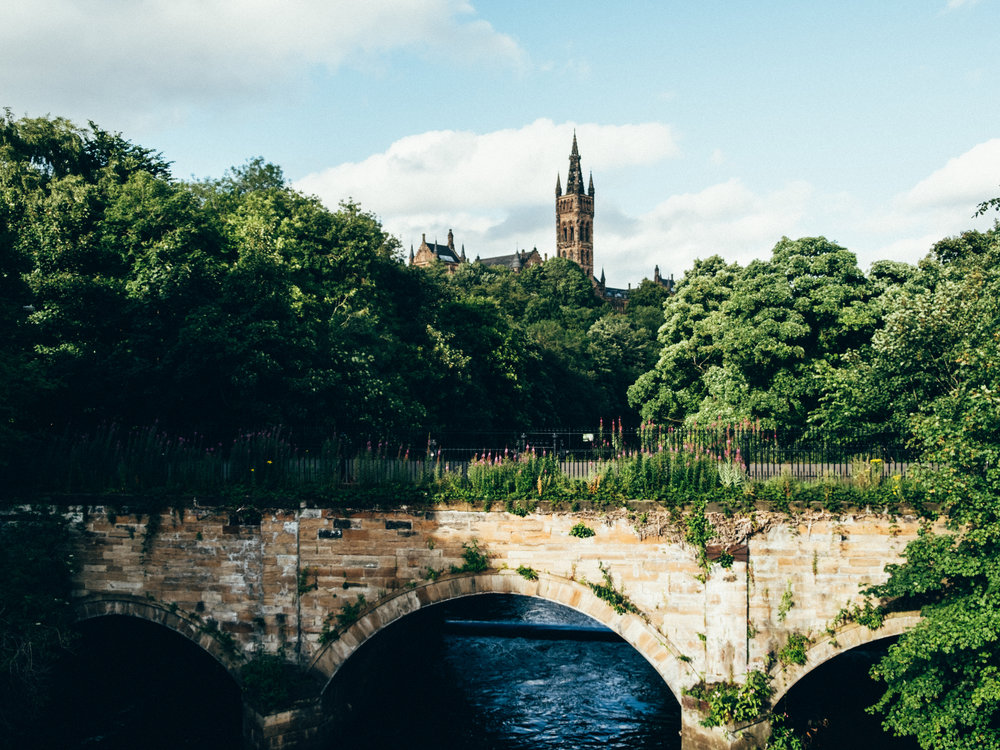 University of Glasgow from Kelvingrove Park