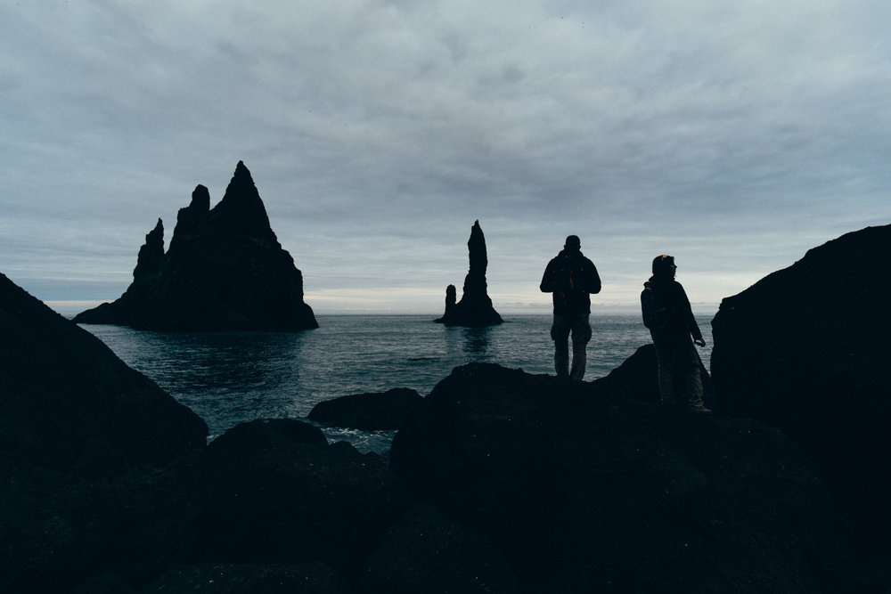 The Reynisdrangar at dusk