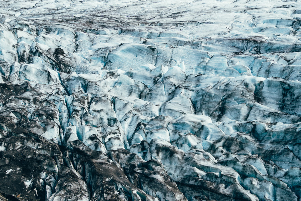 Svínafellsjökull glacier tongue