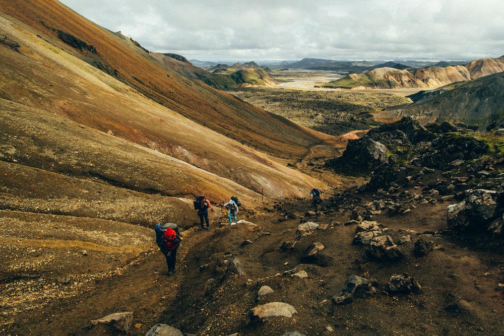 Hiking up Brennisteinsalda