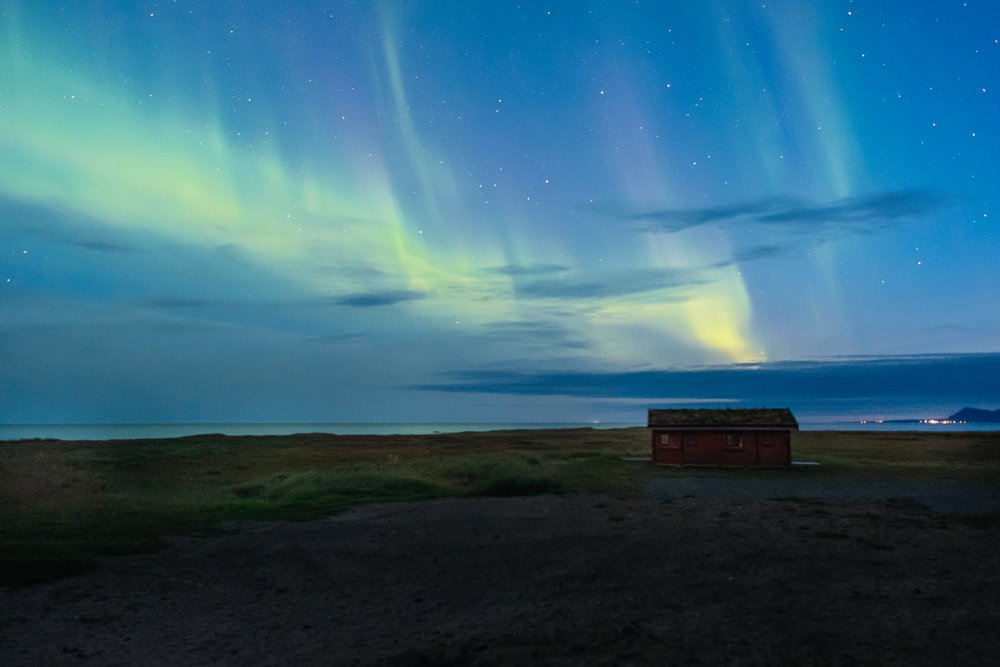 Northern lights, after the sun goes down