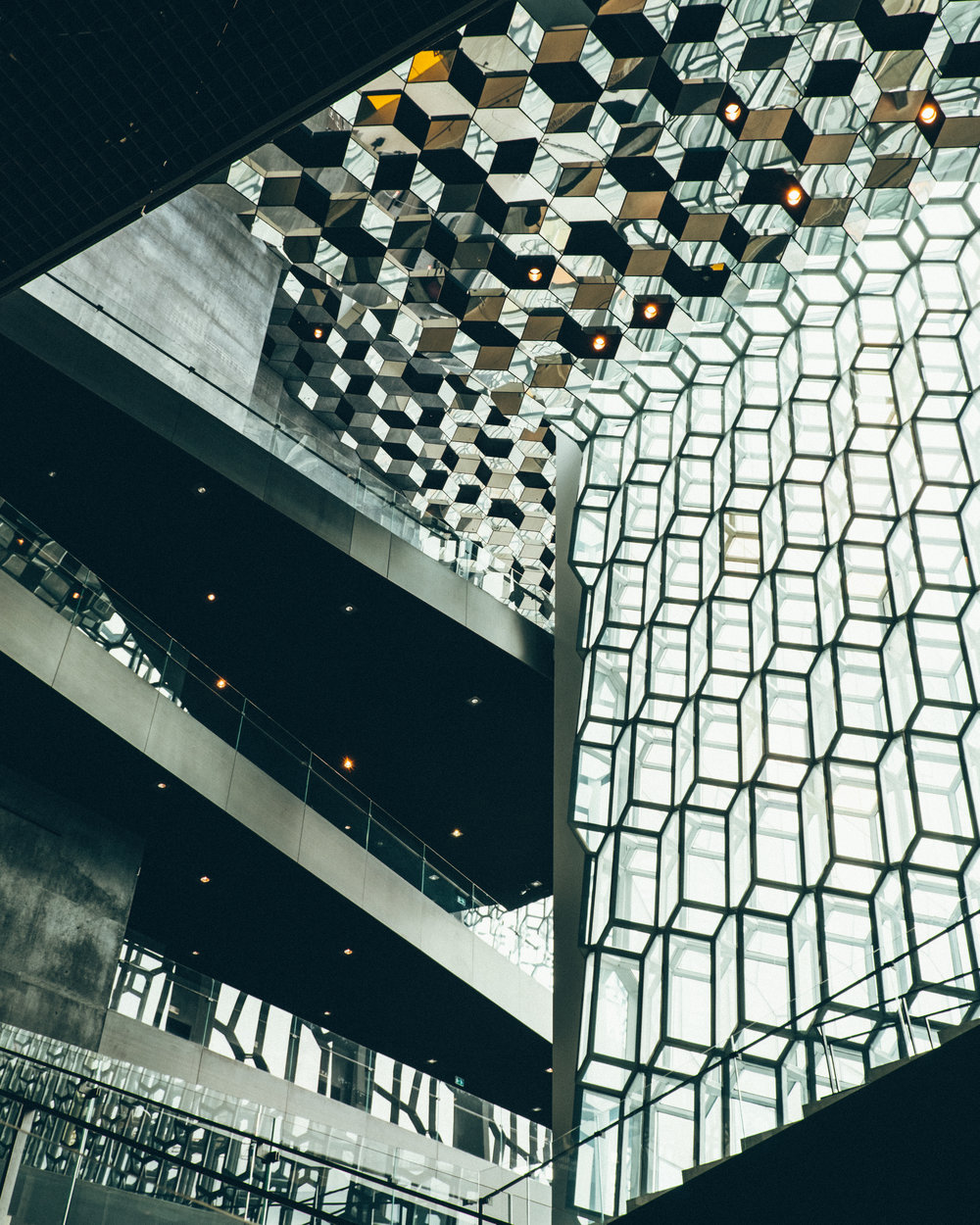 Inside the Harpa Concert Hall and Conference Centre
