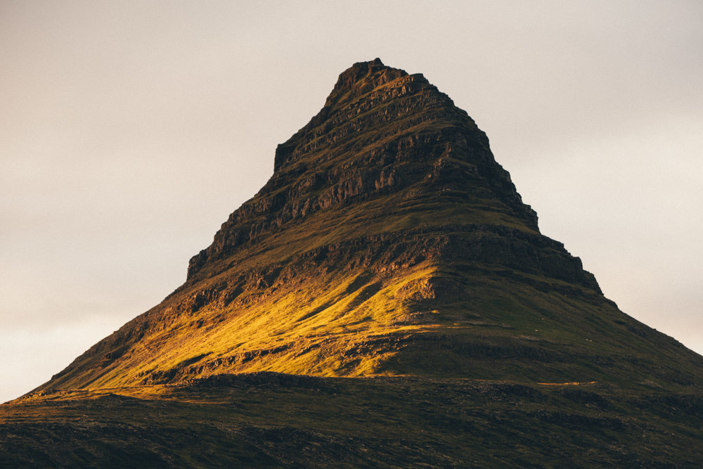 The church steeple - Kirkjufell summit at sunset