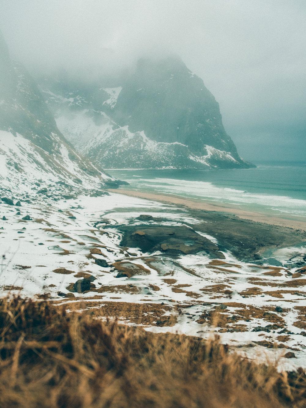 kvalvika-beach-lofoten-norway