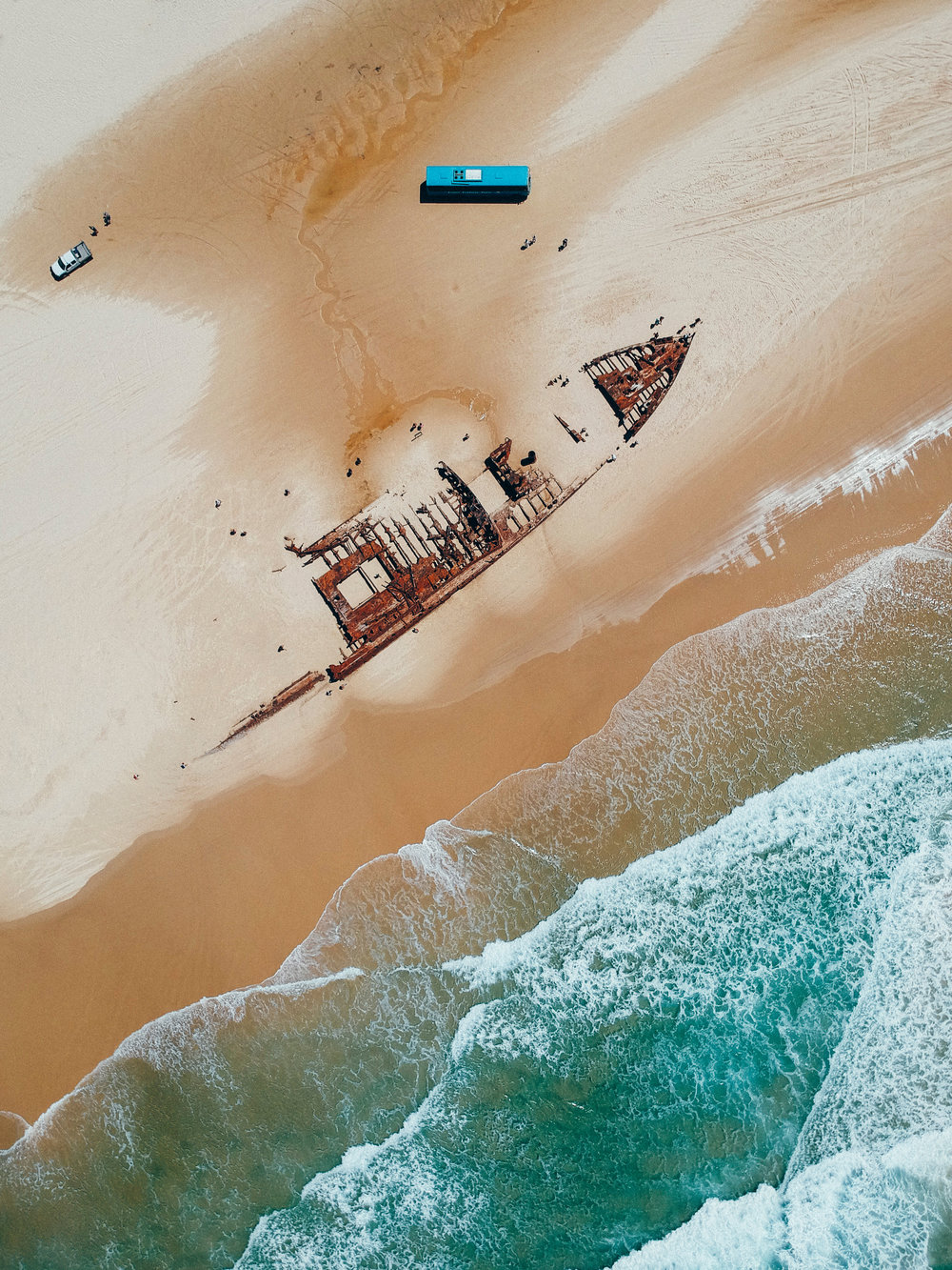 SS Maheno Shipwreck from above
