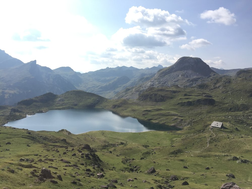 One of the mountain lakes on the way up
