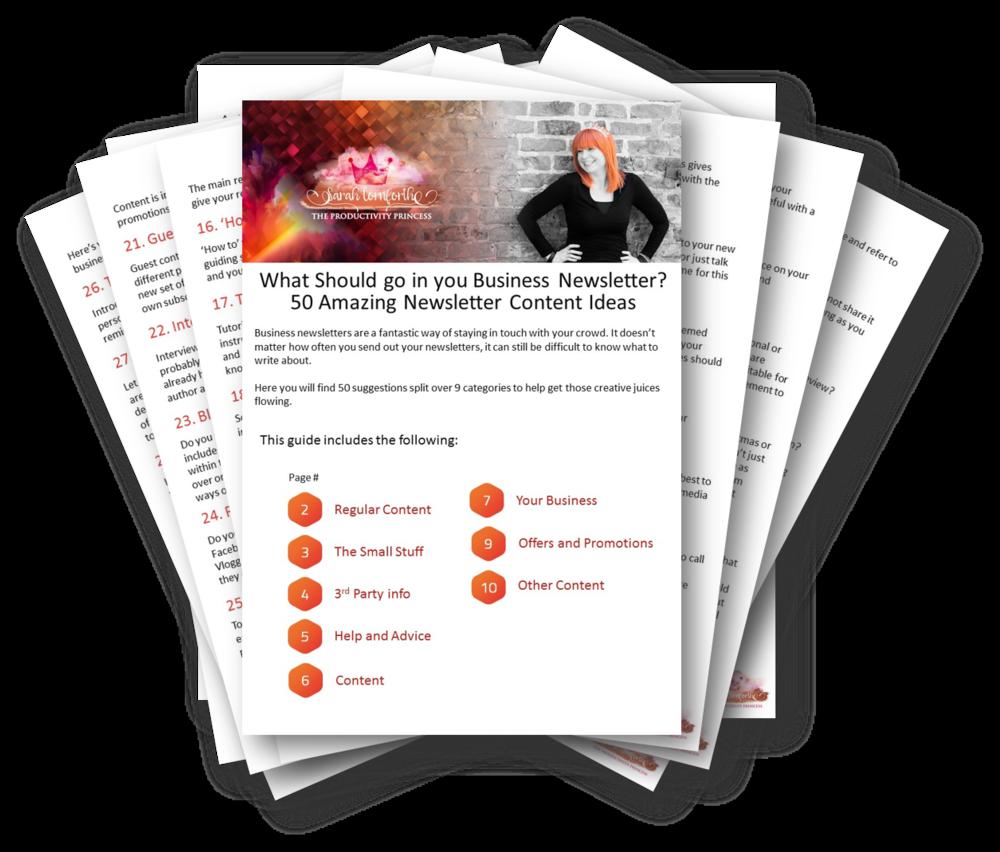 50 Newsletter Content Ideas