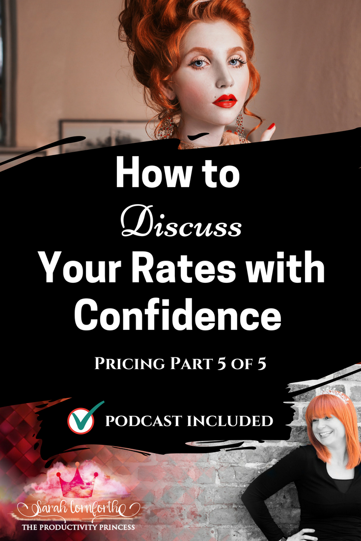 Productivity and Pricing - How to Discuss Your Rates with Confidence