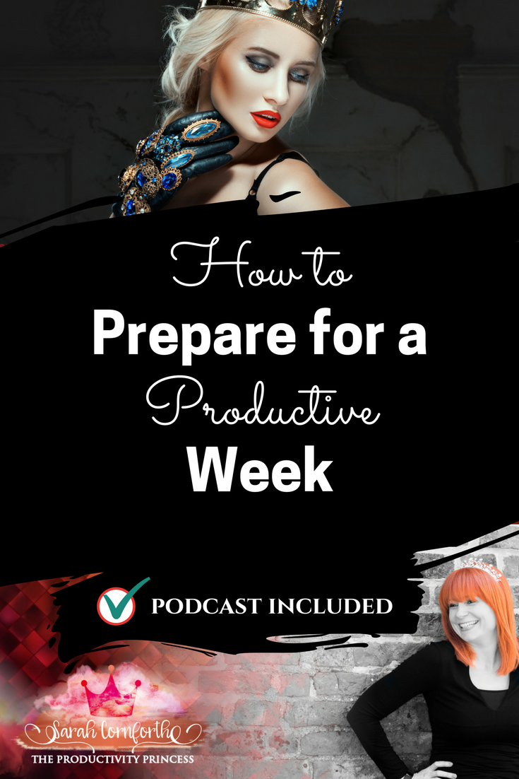 How to prepare for a productive week