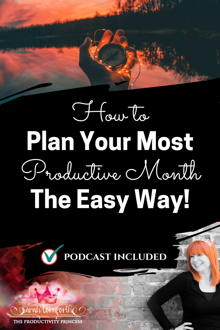 How to plan your most productive month the easy way
