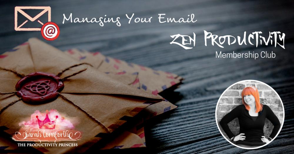Zen Productivity - October - Email Management