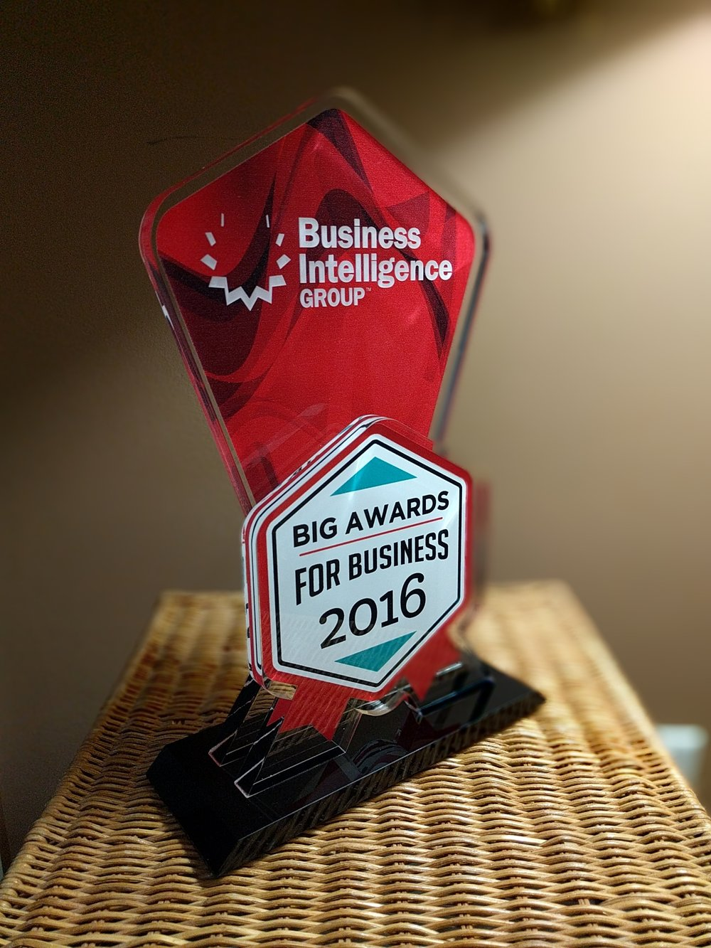 The 2016 BIG Awards for Business winners trophy