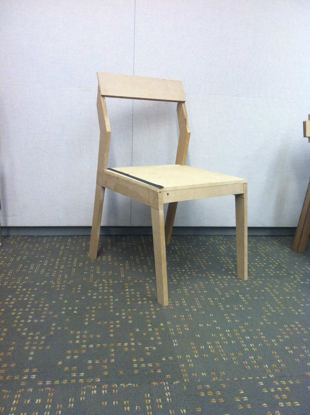 This first prototype was made from MDF