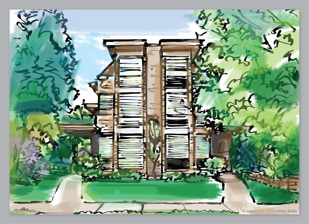 Here is a rendering of the home by the talented Jeffrey Keith.