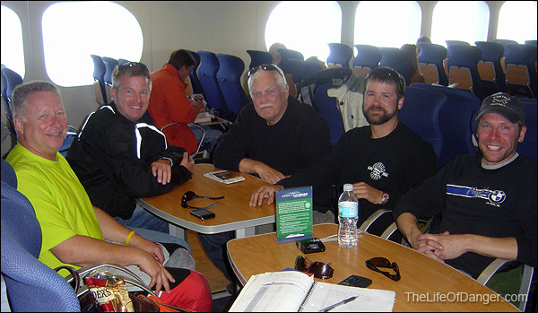 A merry group of strangers on theLake Express. I'm second from the left.