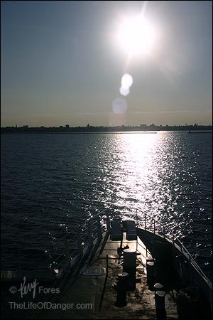 Milwaukee emerges below a bright September sun.