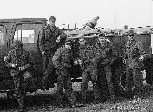 My weapons loading crew, Minot Air Force Base, North Dakota, 1983. I'm second from the left.