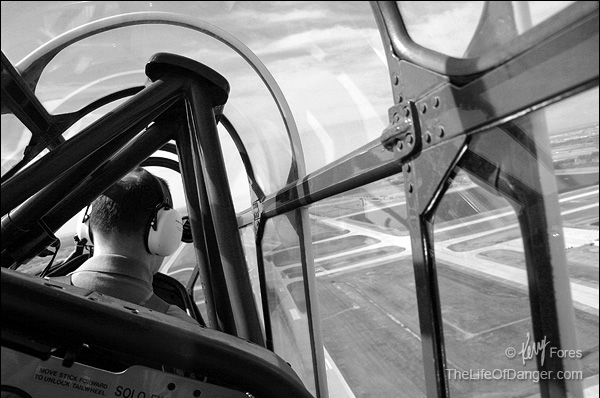 In Fargo I enjoyed a ride in a WWII-era T6 trainer, adding another element of time travel to my experience.