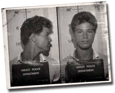 My mugshot from 1984. When you're older I will tell you about it.