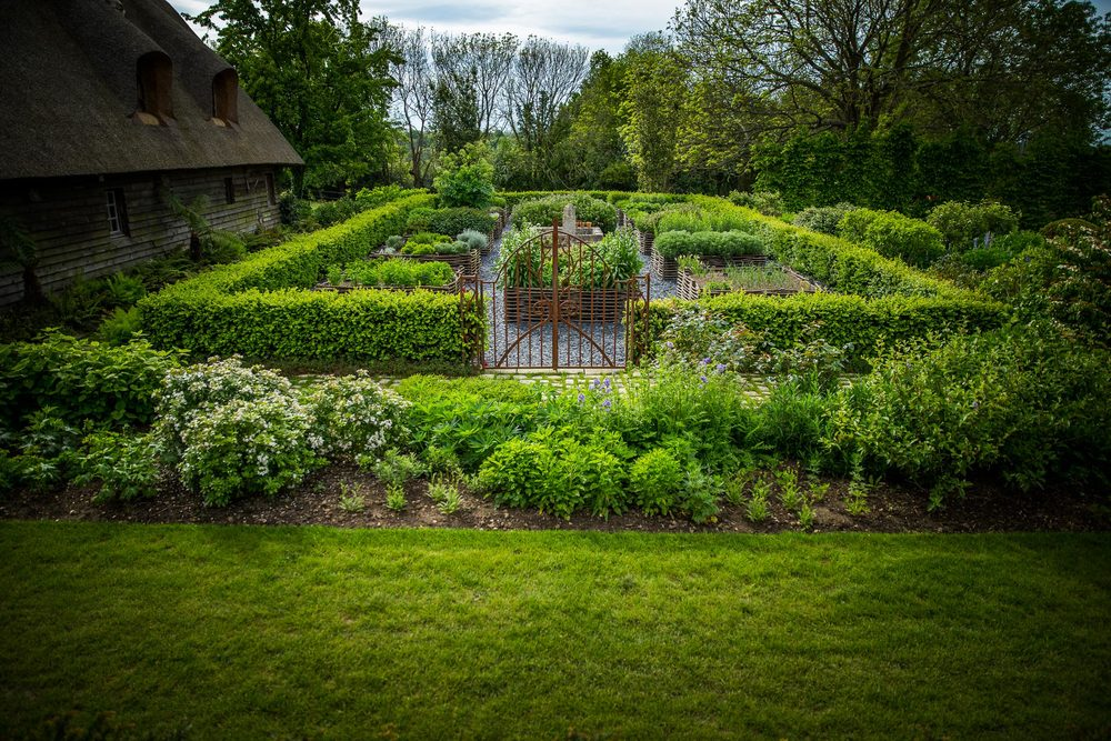 Le jardin des simples du Domaine d'Ablon Normandie